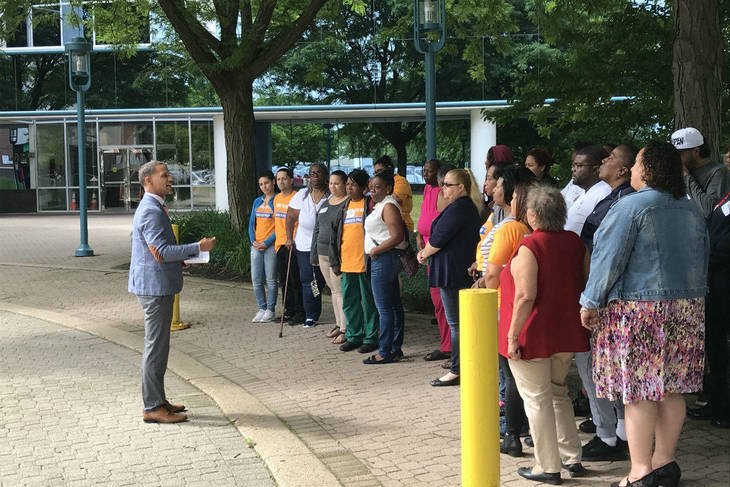Parents make trip to Trenton to show support for school superintendent