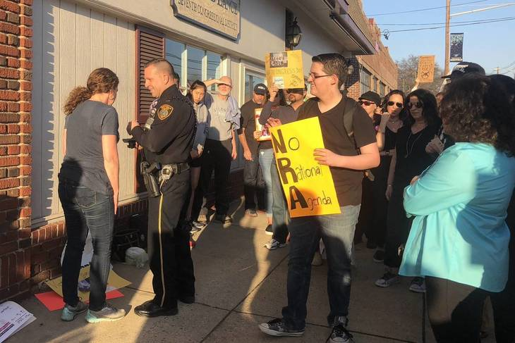Protesters at Rep. Lance's Office Seek Gun Control