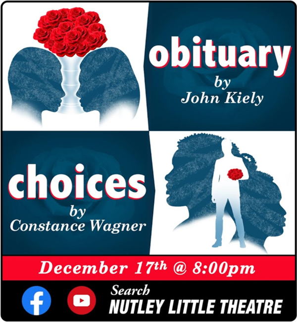 "Nutley Little Theatre Presents ""Family Drama"": A Virtual Reading of Original One Acts Exploring Relationships and Identity"
