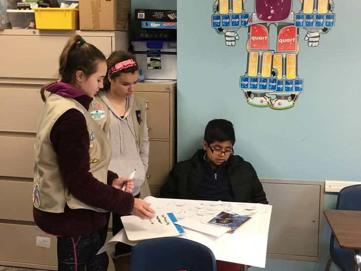Ramsey Girl Scouts Volunteer to Help Students at Oasis
