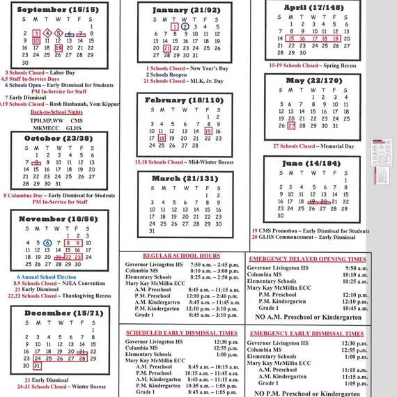 School Calendar Approved By Berkeley Heights School Board