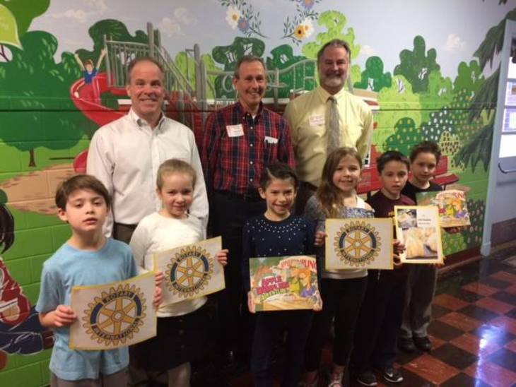 Madison Rotary Celebrates Read Across America with Borough Second Garders