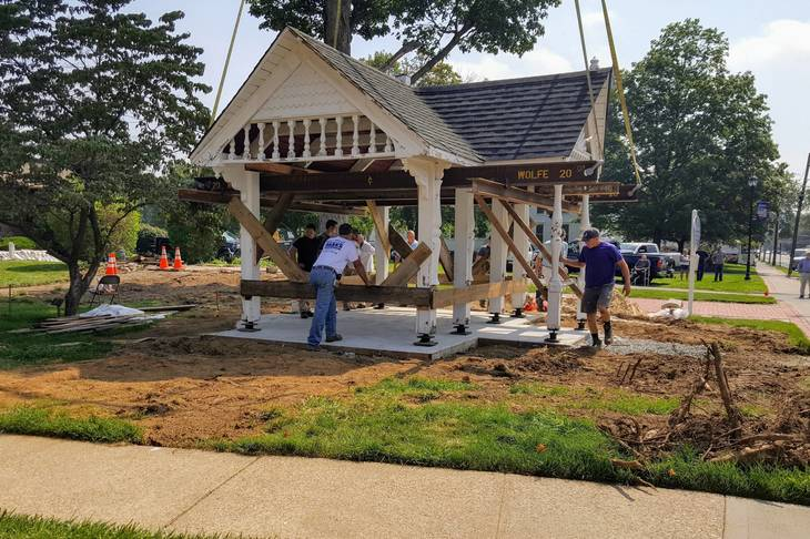 Old Roxbury Library Gazebo Finds New Home and New Uses