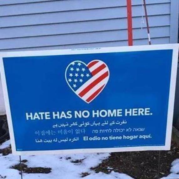 Local Resident Reminds Everyone that 'Hate Has No Home' in Piscataway