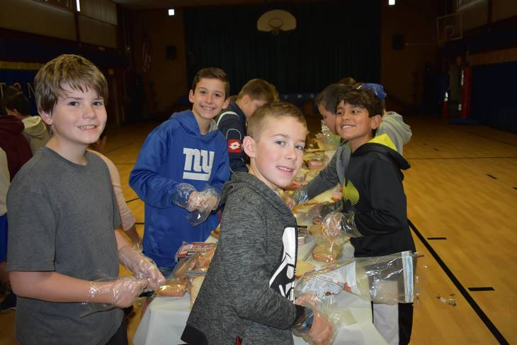 Westfield Schoolchildren Help the Hungry with Lunch Donation Programs