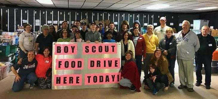 Nutley Boy Scouts 'Scouting for Food' 2018 Shatters All Previous Records