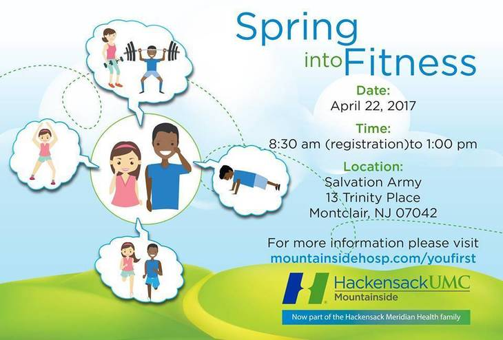 Free Fitness Day with HackensackUMC Mountainside, April 22 ...
