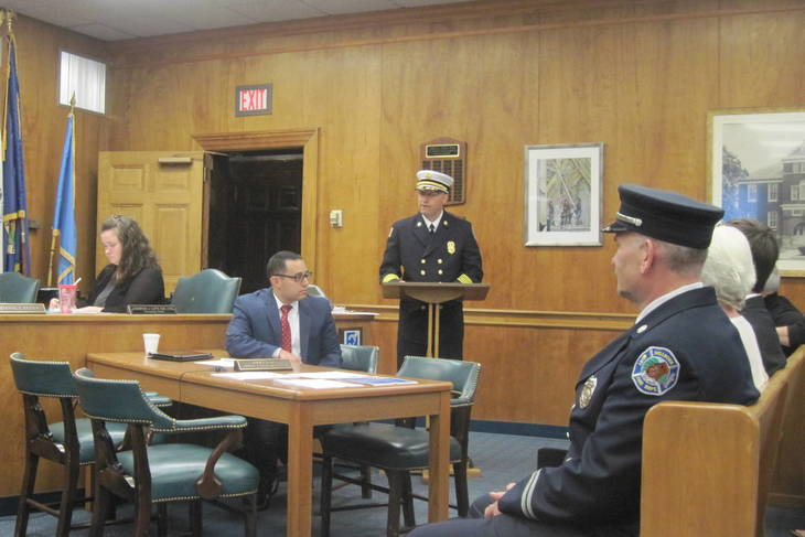 Millburn Township Committee Promotes Two Firemen Looks To