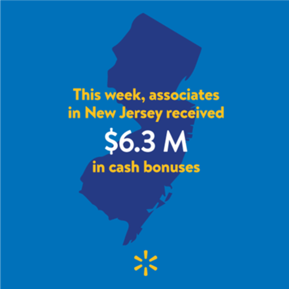 Walmart Pays $6.3M in Bonuses to New Jersey Employees