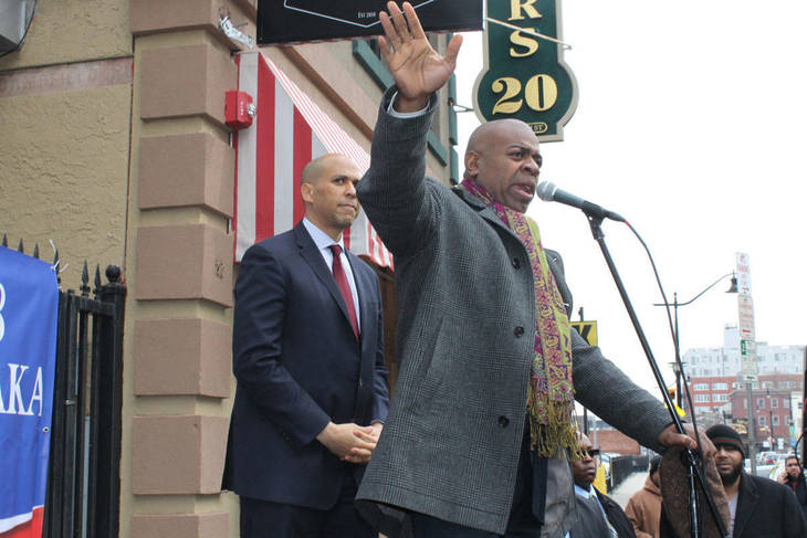 Baraka, with Booker, files petitions in Newark for reelection bid