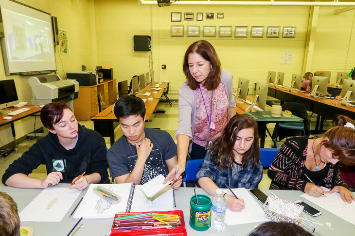 Collaborative Teaching With Students ~ Roxbury high school hosts artrox workshop nj