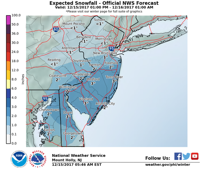 Long Island weather: Snow expected for evening commute