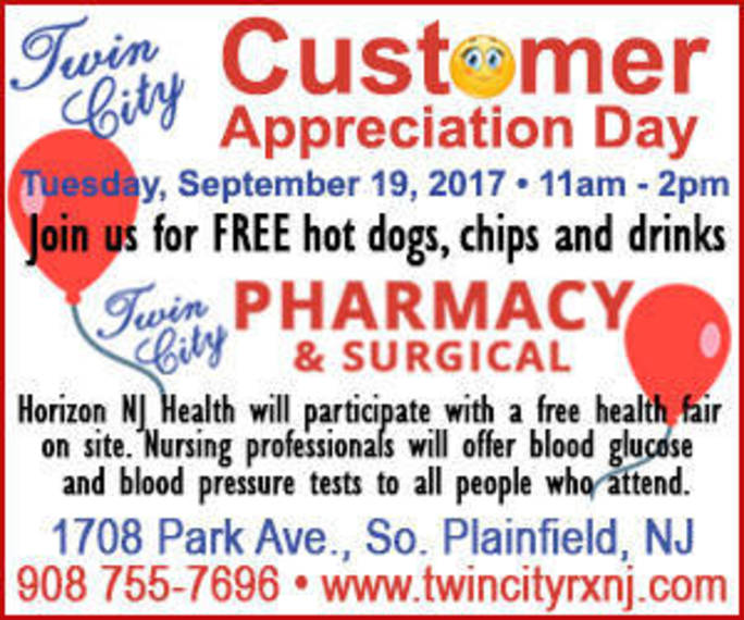 Twin City Pharmacy to Hold Customer Appreciation Day - TAPinto