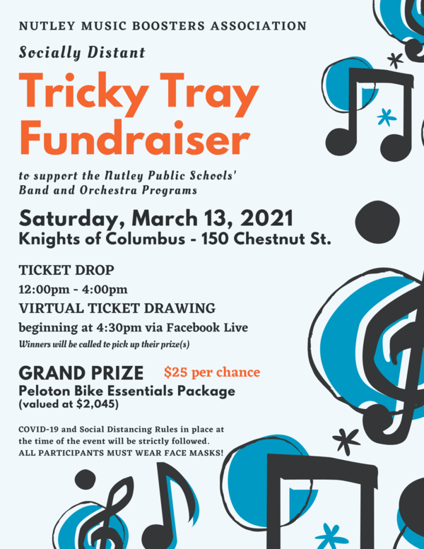 Nutley Music Boosters Tricky Tray WhatsUpNutley