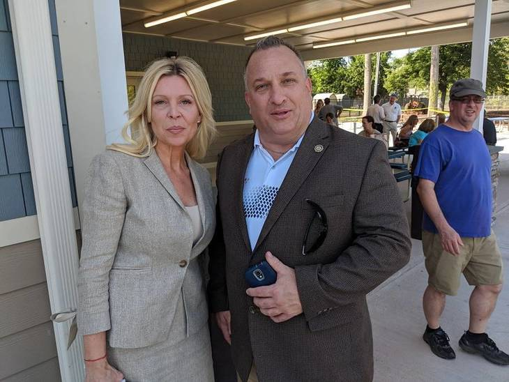 5f8a00f9335d29b8304d_CP5Committewoman_Diane_Stampoulos_and_Police_Chief__and_Acting_Business_Administrator__John_Cook.jpg