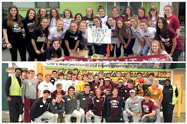 Bank On It: Summit High Girls, Boys Lacrosse Teams Volunteer at Community FoodBank of NJ