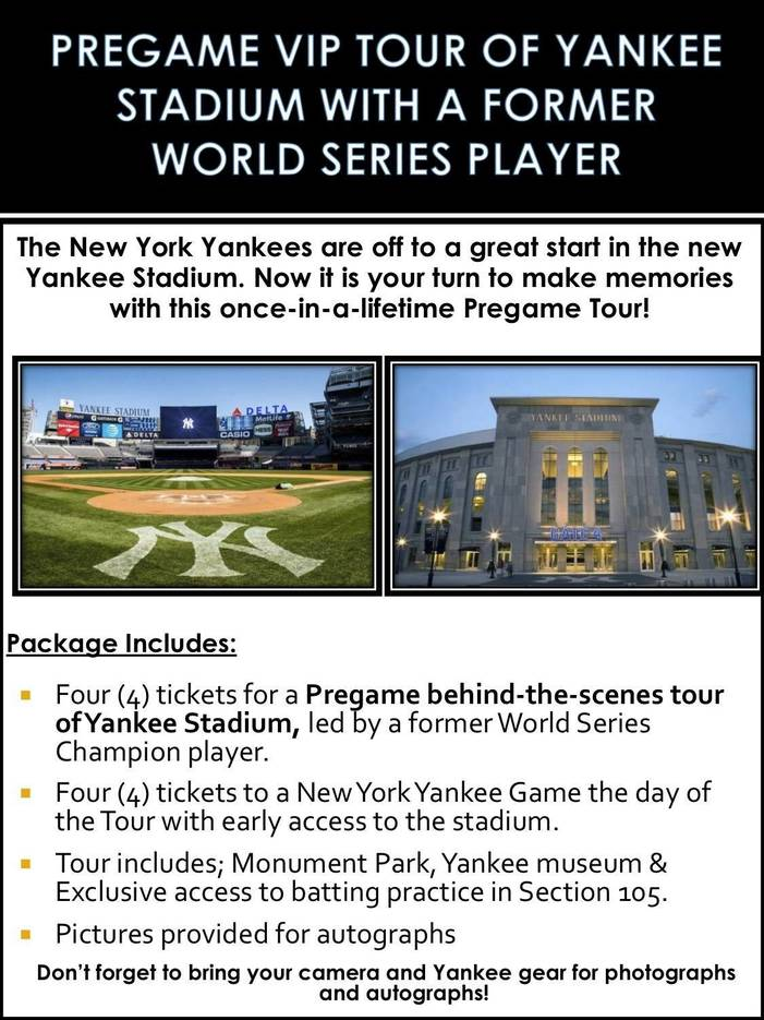 Yankees Pregame Tour