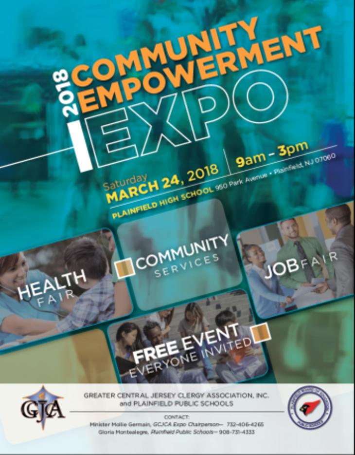Community Empowerment Expo/ Health & Job Fair at Plainfield High School on Sat.