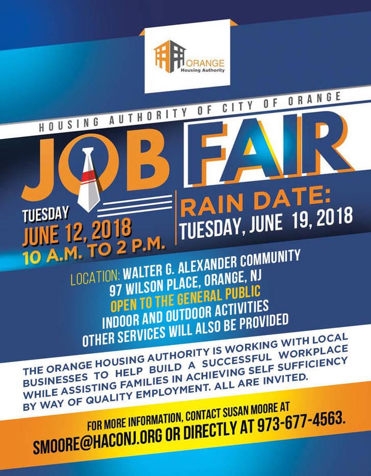 Orange Housing Authority Hosts Job Fair June 12th