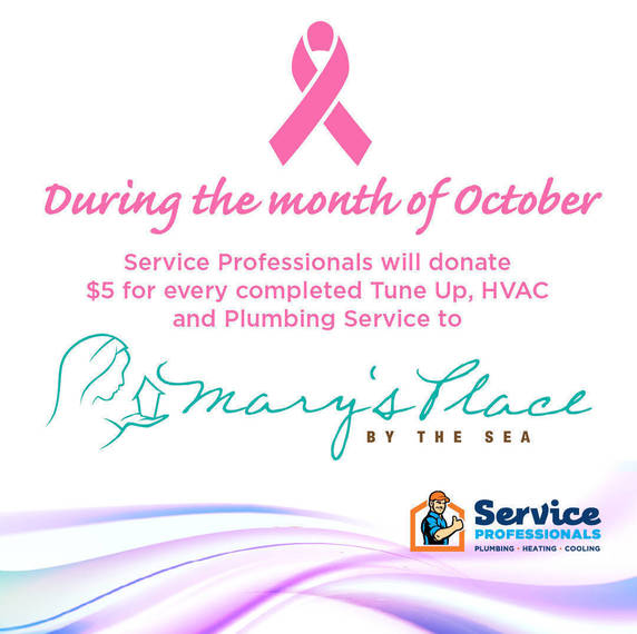 Service Professionals to Make Donations to Mary's Place by the Sea