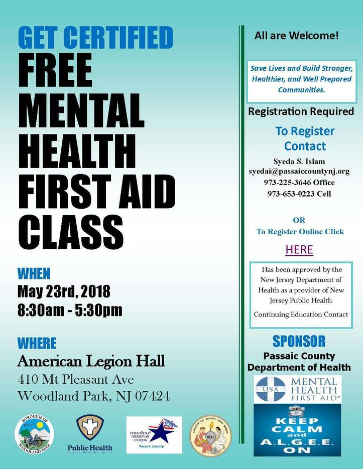 Passaic County Offering Free Mental Health First Aid Training Tapinto