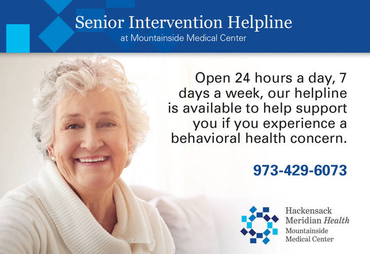 Mountainside Medical Center Offers New 24 7 Senior Mental Health