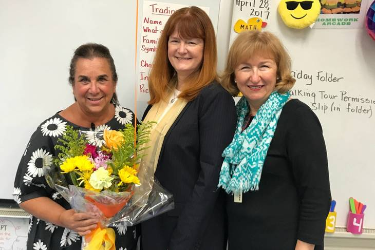 8fc1cd36400e93ac86f3_fef6ef7b05bc68cbff87_Philhower_teacher_Penny_O_Donnell__Supt_Dr._Margaret_Dolan_and_Franklin_Principal_Dr._Eileen_Cambria.jpeg