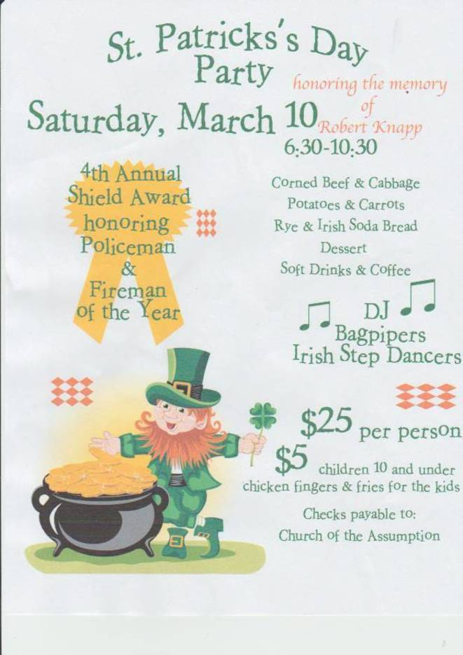 St. Patrick\'s Day Dinner Party - Union NJ News - TAPinto