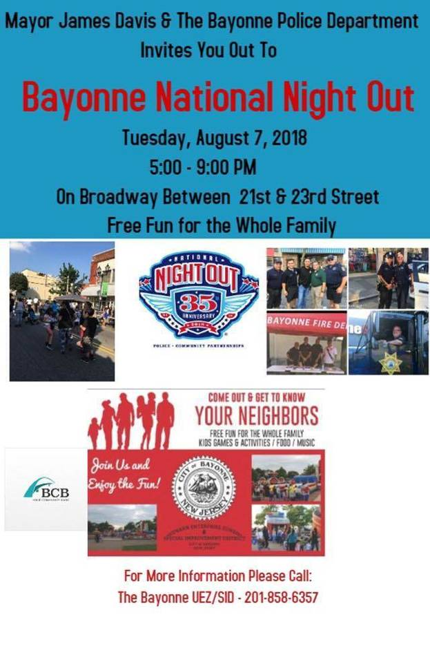 Image result for Bayonne Set to Celebrate National Night Out