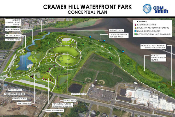 Cramer Hill Waterfront Park on schedule for 2021 opening