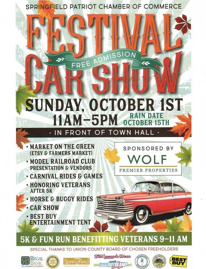 Springfields Fall Festival Car Show Starts At Am Sunday - Car shows in nj