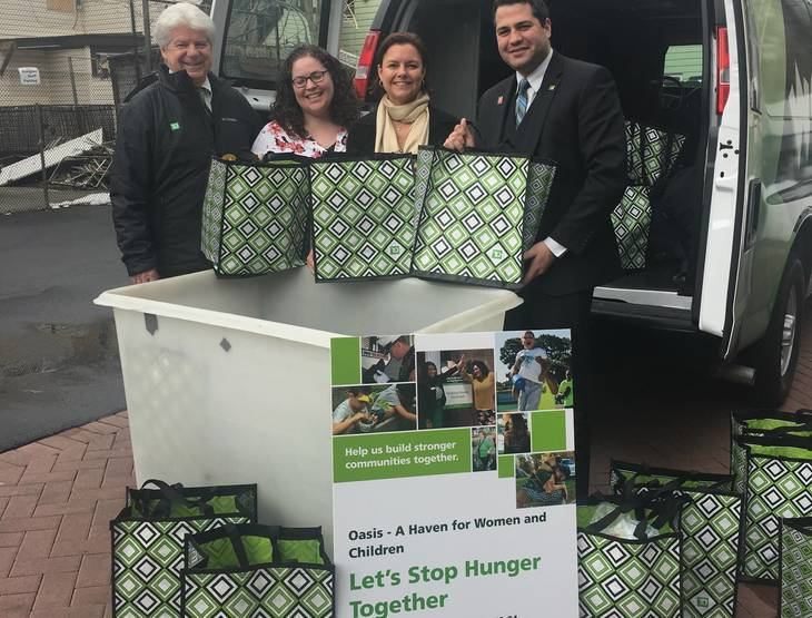 TD Bank Charitable Foundations Donates Food, Diapers, Hygiene Products and Over $5,000 to Oasis in Paterson