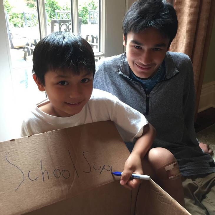 Short Hills Brothers on a Mission to Collect School Supplies for Mission to India