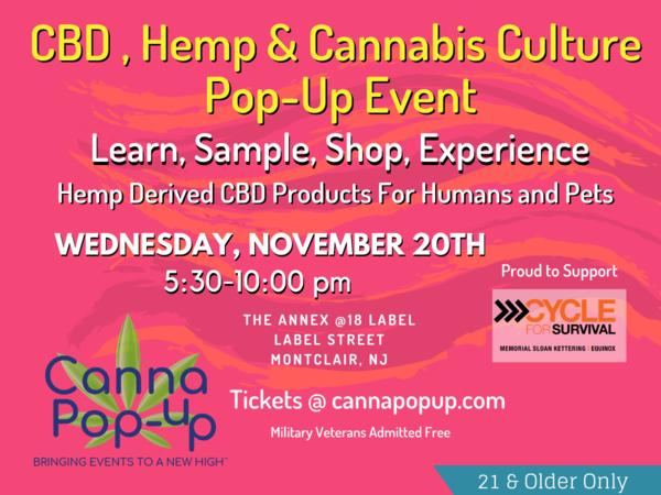 CBD, Hemp and Cannabis Culture Health & Wellness Pop-Up Event in Montclair