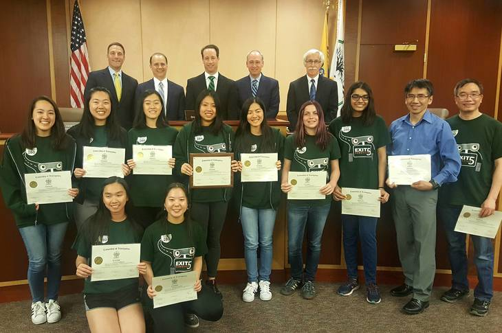 Nationally Recognized All-Girls Robotics Team Honored at Livingston Council Meeting