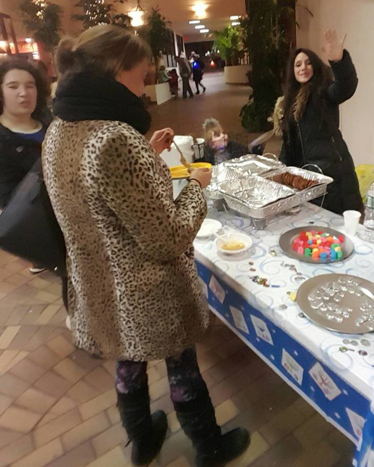 Families Gather For The Grand Menorah Lighting In Montclair