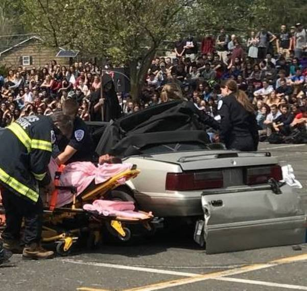 Grim Reaper Presides over Simulated Motor Vehicle Fatality at ...