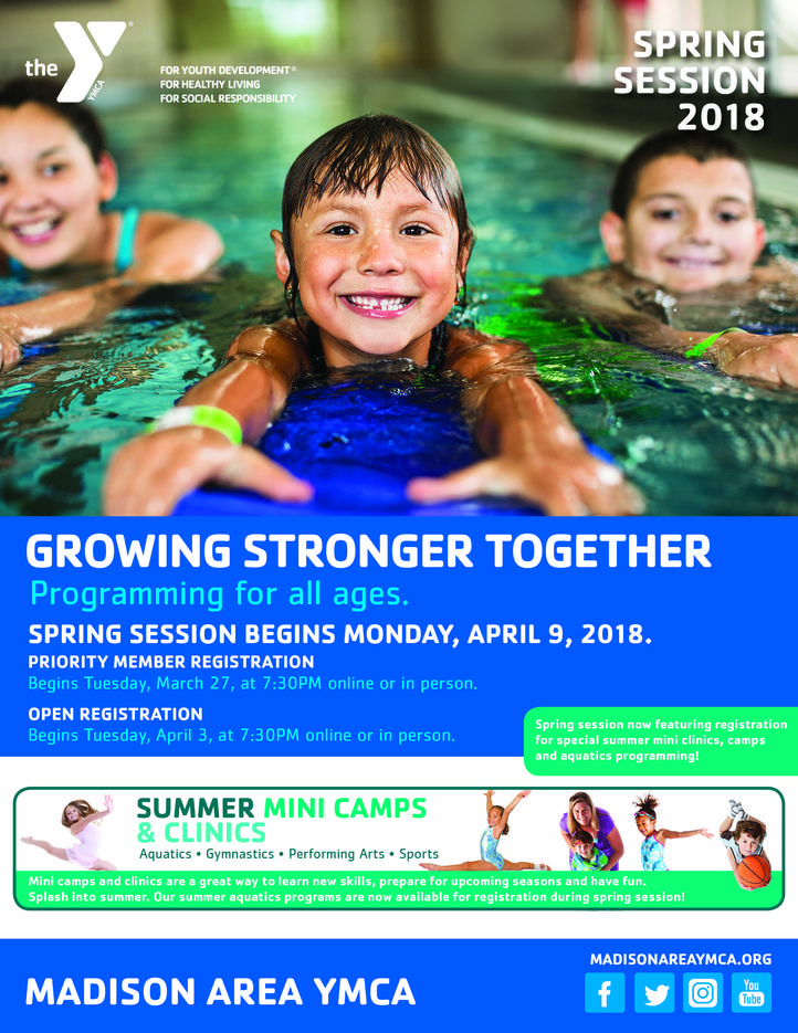 Register for madison area ymca spring summer mini camps clinics bbe8352753101c16fff9spring2018coverfinalg sciox Choice Image