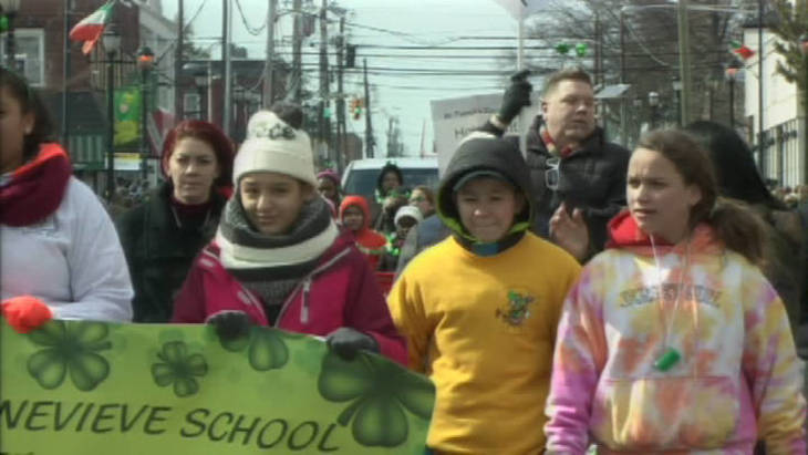 Residents Wear Green at Annual St. Patrick's Day Parade