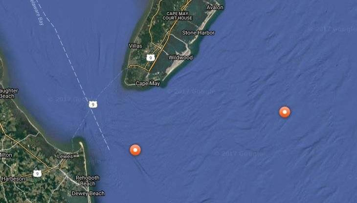 Katharine the great white shark is passing the Virginia Beach coastline