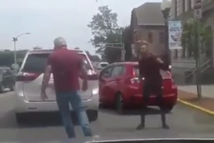 Man Caught On Camera Tossing Driver's Dog During Road Rage Incident