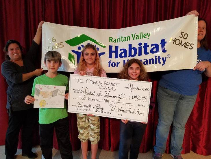 Bridgewater's Green Planet Band Donates to Habitat for Humanity