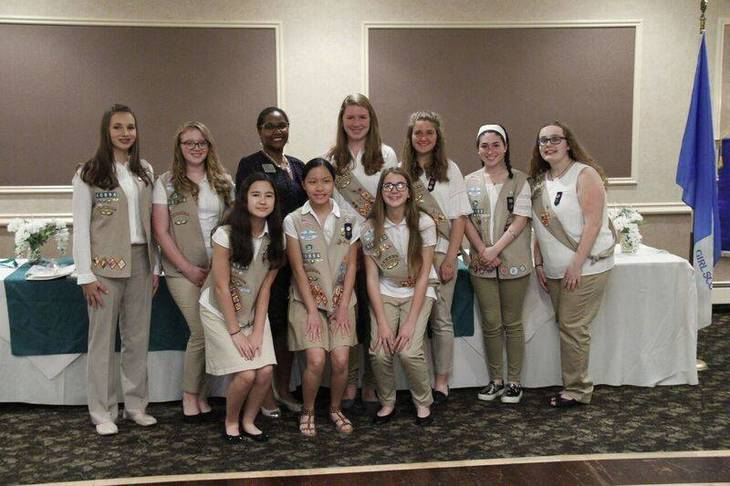 Girl Scouts of Cranford Earn Prestigious Gold and Silver Awards