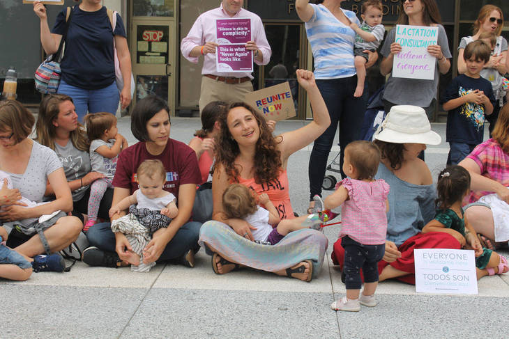 Mothers Mobilize in Newark to Protest Trump Family Separation Policy