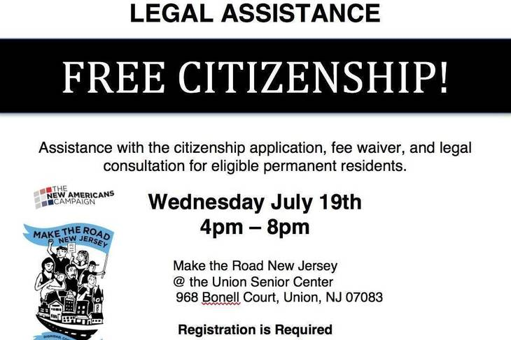 Citizenship Clinic in Union | TAPinto