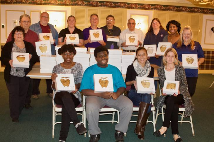 The South Plainfield Elks purchased holiday pies from the South Plainfield  High School DECA Club and donated them to local vets, seniors, and families  in ...
