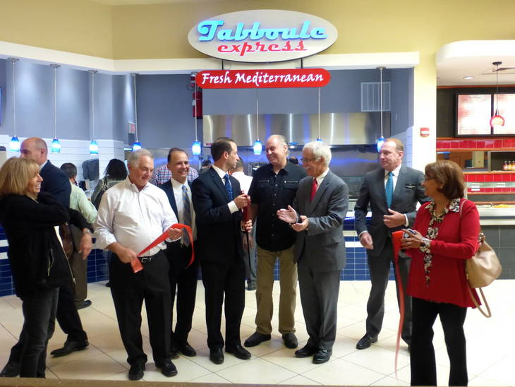 Ribbon Is Cut At Livingston Mall Food Court 39 S New Tabboule Express Soma Nj News Tapinto