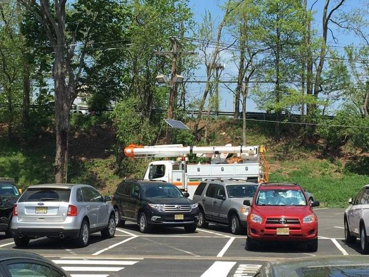 Truck Pulls Down Power Lines and Utility Pole in Clark on ...