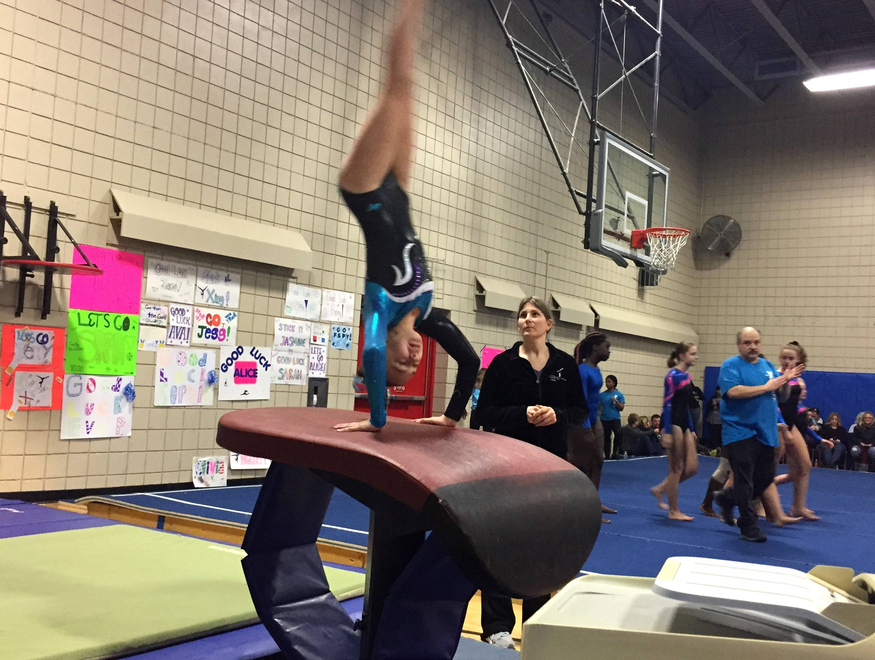fanwood scotch plains ymca gymnasts compete in first meet of
