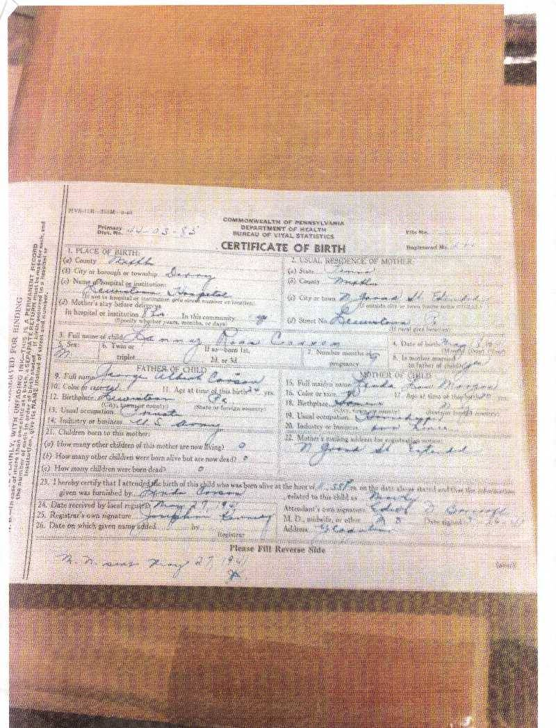 Mans search for birth mother leads to somers somers ny news lanny silks birth certificate which lists his mothers birthplace as somers ny credits photo courtesy of lanny silks aiddatafo Image collections
